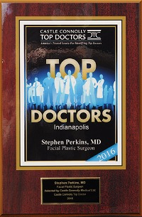 Indianapolis Plastic Surgeons | Dr. Stephen Perkins, MD Facial Plastic Surgeon, Dr. Stephen Perkins, Selected by Castle Connolly Medical As a 2016 Top Doctor